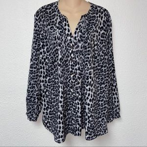 Laura Scott Leopard Print Blouse Size 18/20 W